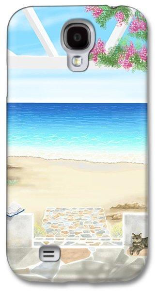 On The Beach Galaxy S4 Cases - Beach house Galaxy S4 Case by Veronica Minozzi