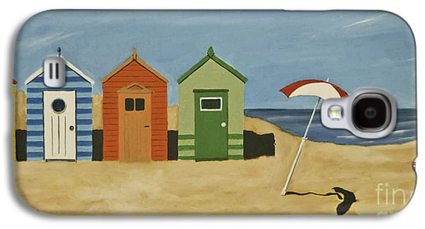 Beach Huts Galaxy S4 Case by James Lavott