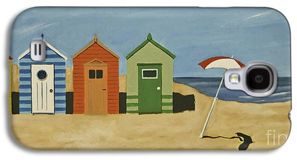 Buildings By The Sea Galaxy S4 Cases - Beach Huts Galaxy S4 Case by James Lavott