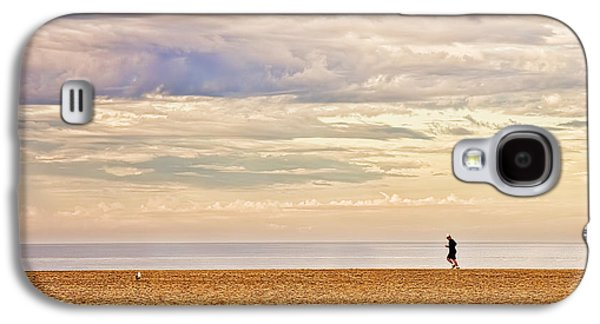 Original Art Photographs Galaxy S4 Cases - Beach Jogger Galaxy S4 Case by Chuck Staley