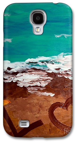 Surreal Landscape Galaxy S4 Cases - Beach Love 1 Galaxy S4 Case by Melissa Darnell Glowacki