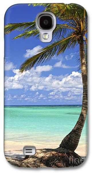 Beach Landscape Galaxy S4 Cases - Beach of a tropical island Galaxy S4 Case by Elena Elisseeva