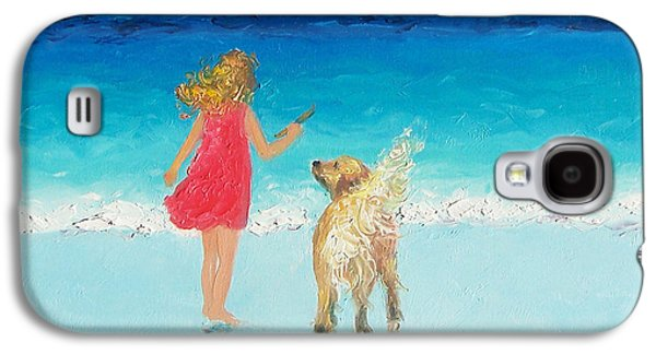 Beach Painting 'sunkissed Hair'  Galaxy S4 Case by Jan Matson