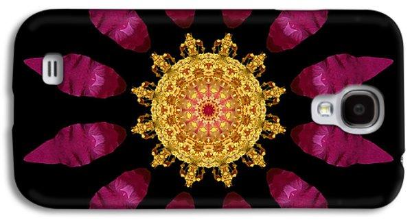 David J Bookbinder Galaxy S4 Cases - Beach Rose IV Flower Mandala Galaxy S4 Case by David J Bookbinder