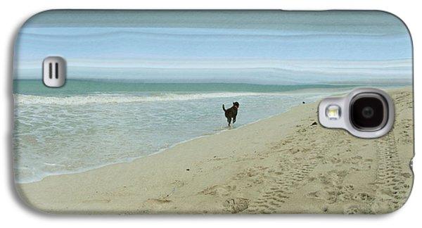 Beach Landscape Galaxy S4 Cases - Beach Run Galaxy S4 Case by Juli Scalzi