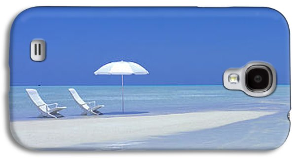 Beach Scene Digufinolhu Maldives Galaxy S4 Case by Panoramic Images