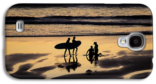 Poster Art Galaxy S4 Cases - Beach scene Galaxy S4 Case by Jb Atelier