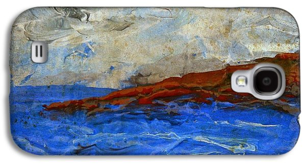 Carter House Galaxy S4 Cases - Beach Scene Painting Fine Art Print Galaxy S4 Case by Laura  Carter