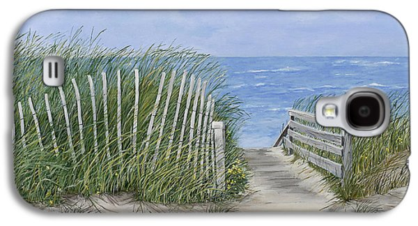 Staircase Paintings Galaxy S4 Cases - Beach Scene Galaxy S4 Case by Virginia McLaren
