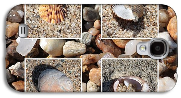 Agate Beach Galaxy S4 Cases - Beach Shells and Rocks Collage Galaxy S4 Case by Carol Groenen