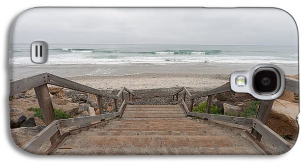 Wooden Stairs Galaxy S4 Cases - Beach Stairs Galaxy S4 Case by Tanya Harrison