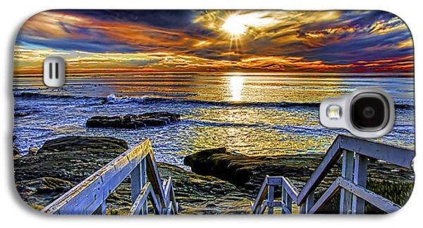 Keith Ducker Galaxy S4 Cases - Beach Steps Galaxy S4 Case by Keith Ducker