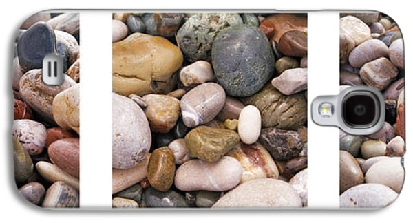 Abstract Nature Galaxy S4 Cases - Beach Stones Triptych Galaxy S4 Case by Stylianos Kleanthous