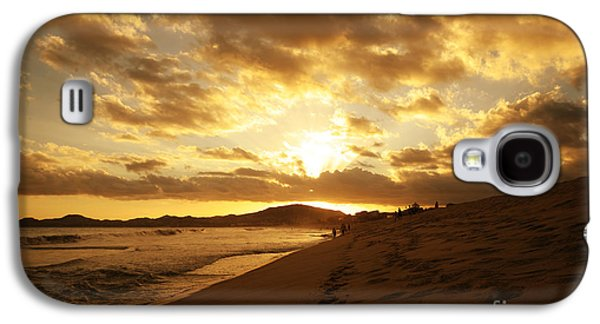 Surreal Landscape Galaxy S4 Cases - Beach Sunset Galaxy S4 Case by Cheryl Young