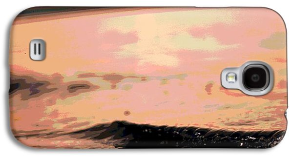 Sunset Posters Galaxy S4 Cases - Beach Sunset Poster Galaxy S4 Case by Dan Sproul