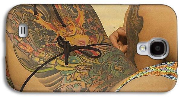 Manley Galaxy S4 Cases - Beach Tattoo Galaxy S4 Case by Stuart Litoff