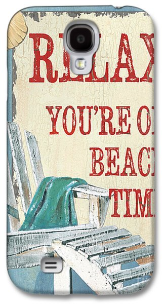 Lounge Galaxy S4 Cases - Beach Time 1 Galaxy S4 Case by Debbie DeWitt