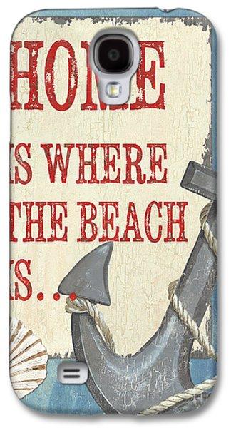 Sailboat Ocean Paintings Galaxy S4 Cases - Beach Time 2 Galaxy S4 Case by Debbie DeWitt
