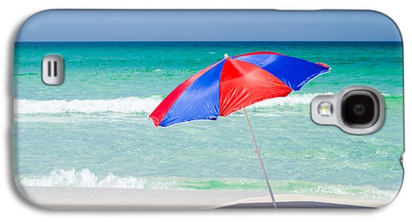 Splashy Galaxy S4 Cases - Beach Umbrella Galaxy S4 Case by Shelby  Young