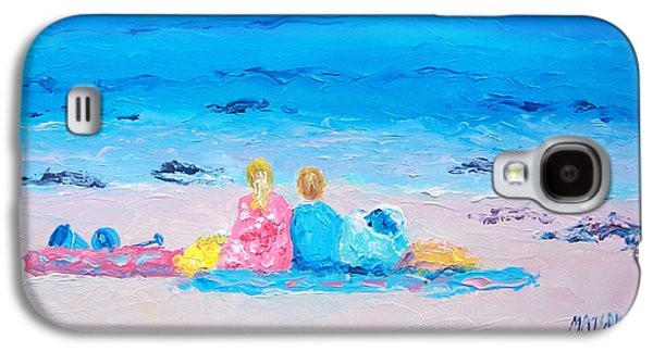 Beach Towel Galaxy S4 Cases - Beach Vacation Galaxy S4 Case by Jan Matson