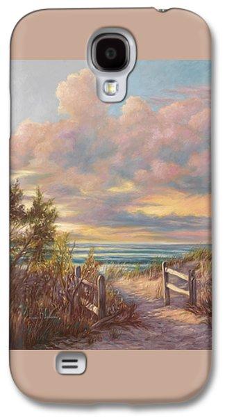 Beach Sunsets Galaxy S4 Cases - Beach Walk Galaxy S4 Case by Lucie Bilodeau