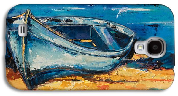 On The Beach Galaxy S4 Cases - Beached Blue Galaxy S4 Case by Elise Palmigiani
