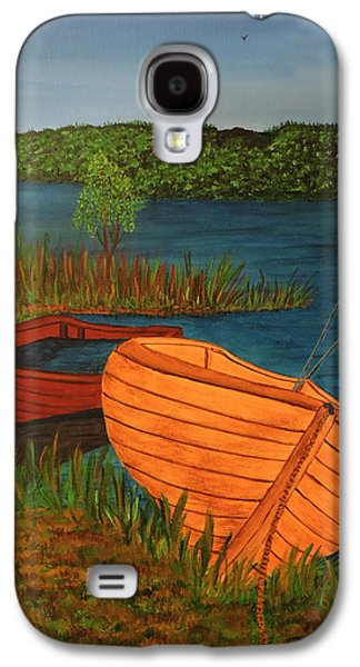 Canadian Sports Paintings Galaxy S4 Cases - Beached Till The Next Time Galaxy S4 Case by Doug Wilkie