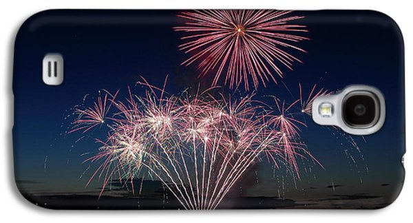 Pyrotechnics Galaxy S4 Cases - Beachfest Fireworks 2013 Galaxy S4 Case by Randy Hall