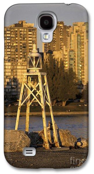 Burrard Inlet Galaxy S4 Cases - Beacon and skyscrapers in Vancouver Canada Galaxy S4 Case by Ryan Fox