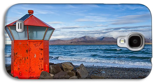 Sun Photographs Galaxy S4 Cases - Beacon at Hvaleyrarviti in Iceland Galaxy S4 Case by Andres Leon