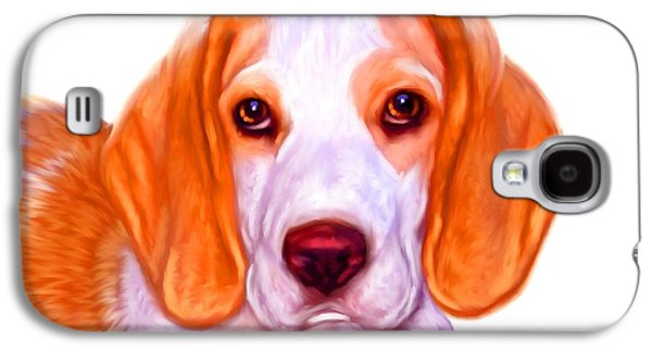 Buy Dog Digital Galaxy S4 Cases - Beagle Dog on White Background Galaxy S4 Case by Iain McDonald