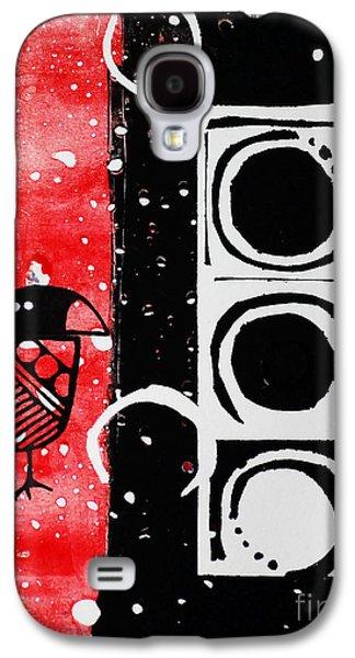 Beak In Red And Black Galaxy S4 Case by Cynthia Lagoudakis