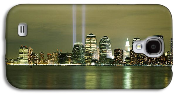 Wtc 11 Galaxy S4 Cases - Beams Of Light, New York, New York Galaxy S4 Case by Panoramic Images