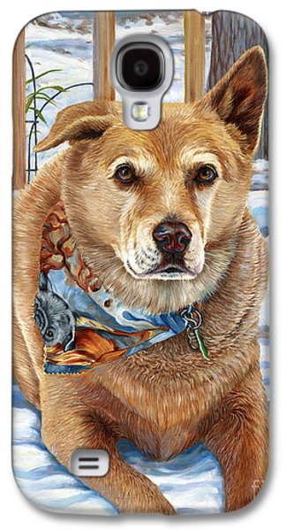 Dogs In Snow. Paintings Galaxy S4 Cases - Bear Galaxy S4 Case by Catherine Garneau