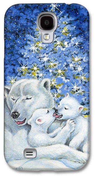 Christmas Eve Paintings Galaxy S4 Cases - Bear Hug Galaxy S4 Case by Richard De Wolfe