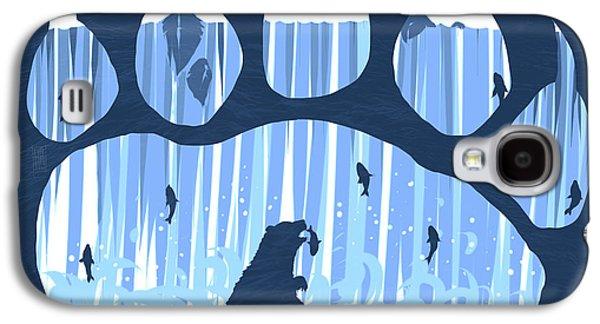 Caught Galaxy S4 Cases - Bear Paw Galaxy S4 Case by Daniel Hapi