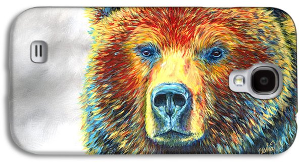 National Park Paintings Galaxy S4 Cases - Bear Thoughts Galaxy S4 Case by Teshia Art
