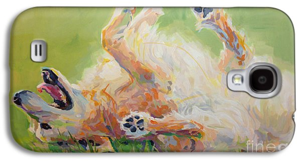 Golden Retriever Galaxy S4 Cases - Bears Backscratch Galaxy S4 Case by Kimberly Santini
