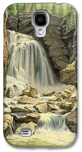 Wyoming Paintings Galaxy S4 Cases - Beartooth Falls Galaxy S4 Case by Paul Krapf