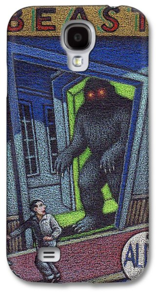 Haunted House Drawings Galaxy S4 Cases - Beast Galaxy S4 Case by Thomas Sciacca