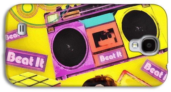 Mj Digital Art Galaxy S4 Cases - Beat it Galaxy S4 Case by Mo T