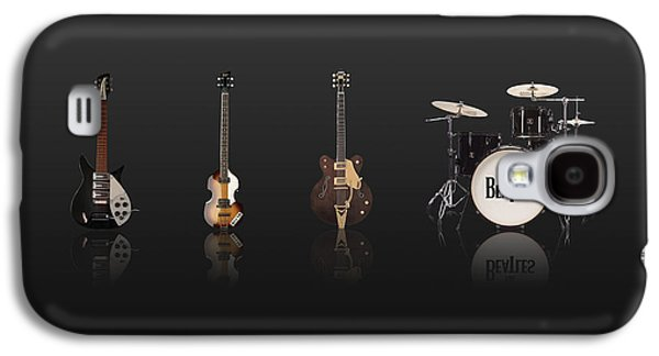 Beatles Galaxy S4 Cases - Beat of Beatles black Galaxy S4 Case by Six Artist
