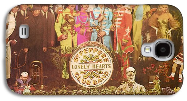 Beatles Galaxy S4 Cases - Beatles Lonely hearts Club band Galaxy S4 Case by Gina Dsgn