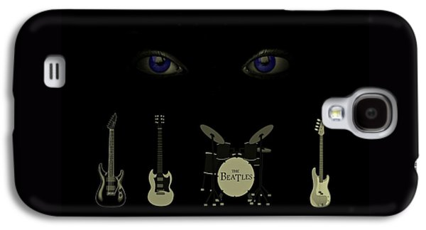 Beatles Drawings Galaxy S4 Cases - Beatles Something Galaxy S4 Case by David Dehner