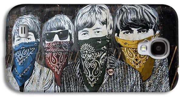 Beatles Photographs Galaxy S4 Cases - Beatles street mural Galaxy S4 Case by RicardMN Photography