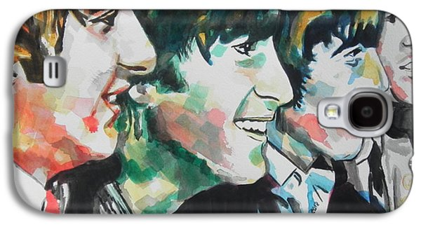 Beatles Galaxy S4 Cases - The Beatles 02 Galaxy S4 Case by Chrisann Ellis