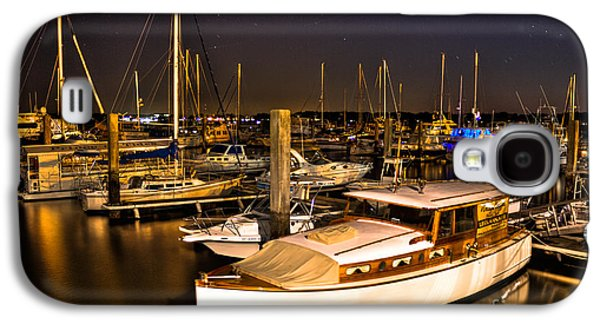 Sailboats In Harbor Galaxy S4 Cases - Beaufort SC Night Harbor Galaxy S4 Case by Reid Callaway