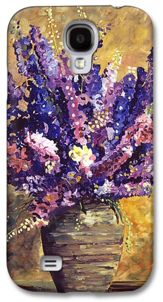Pottery Paintings Galaxy S4 Cases - Beaujolais Bouquet Galaxy S4 Case by David Lloyd Glover