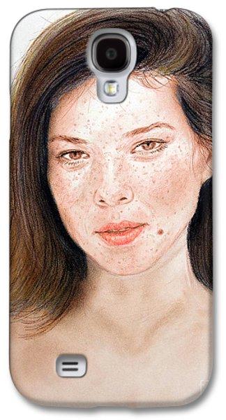 Beauty Mark Mixed Media Galaxy S4 Cases - Beautiful Actress Jeananne Goossen Galaxy S4 Case by Jim Fitzpatrick