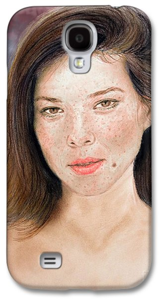 Beauty Mark Mixed Media Galaxy S4 Cases - Beautiful Actress Jeananne Goossen Updated Version Galaxy S4 Case by Jim Fitzpatrick